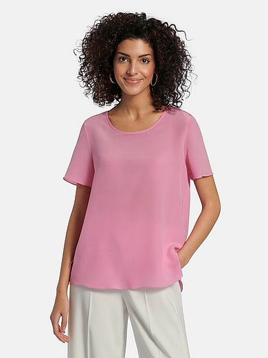 (THE MERCER) N.Y. - Shirt van 100% zijde met korte mouwen