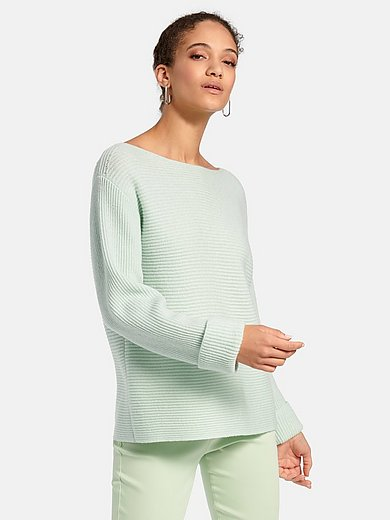 oui - Boat neck jumper in 100% cotton