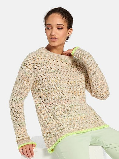 oui - Round neck jumper with long sleeves
