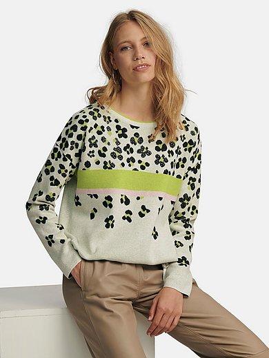 oui - Rundhalsad tröja med långa ärmar