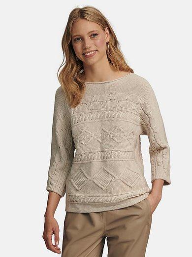 oui - Rundhalsad tröja med 3/4-ärmar