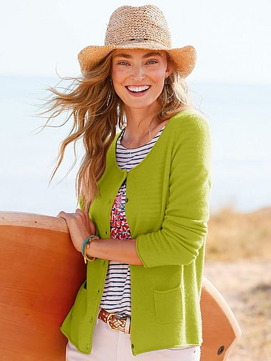 FLUFFY EARS - Cardigan in Pure cashmere in premium quality
