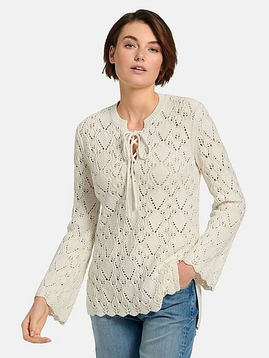Joop! - Jumper with scalloped cuffs and hem
