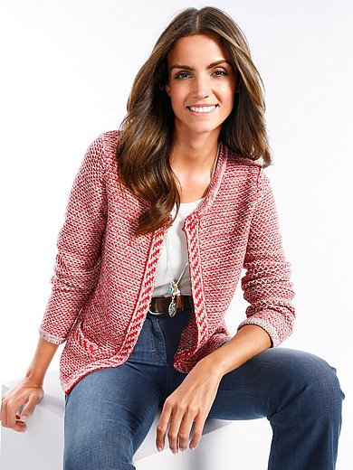 Brax Feel Good Strickjacke EcruRot