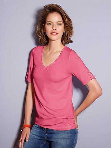 Looxent - Shirt mit V-Ausschnitt und lässigem 1/2-Arm