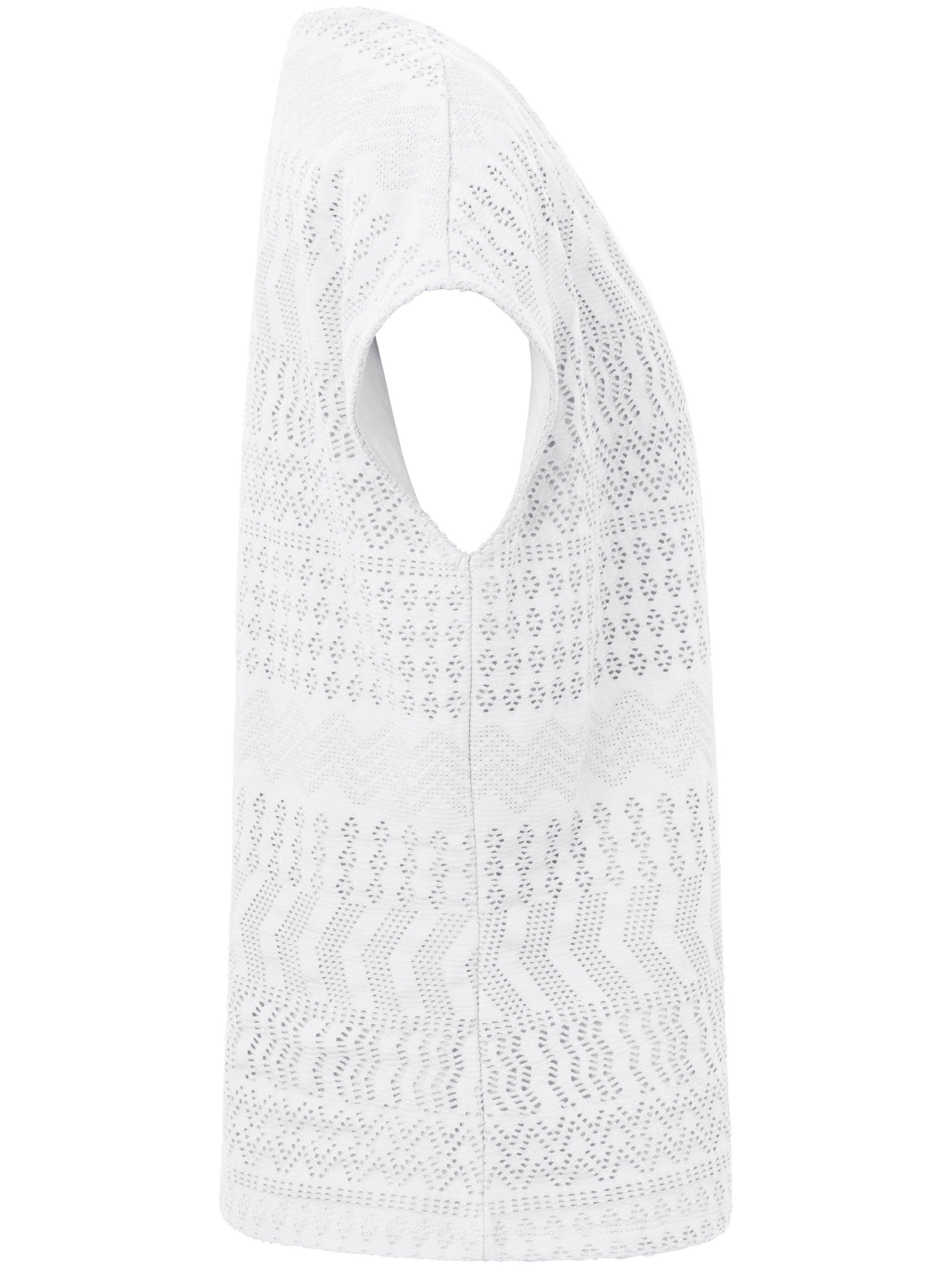 Bluse 1/2-arm Fra Peter Hahn hvid