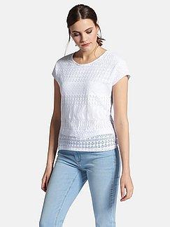 Gant Rundhalsshirt Mit Halblangen Ärmeln Rosa-weiß-gestreift