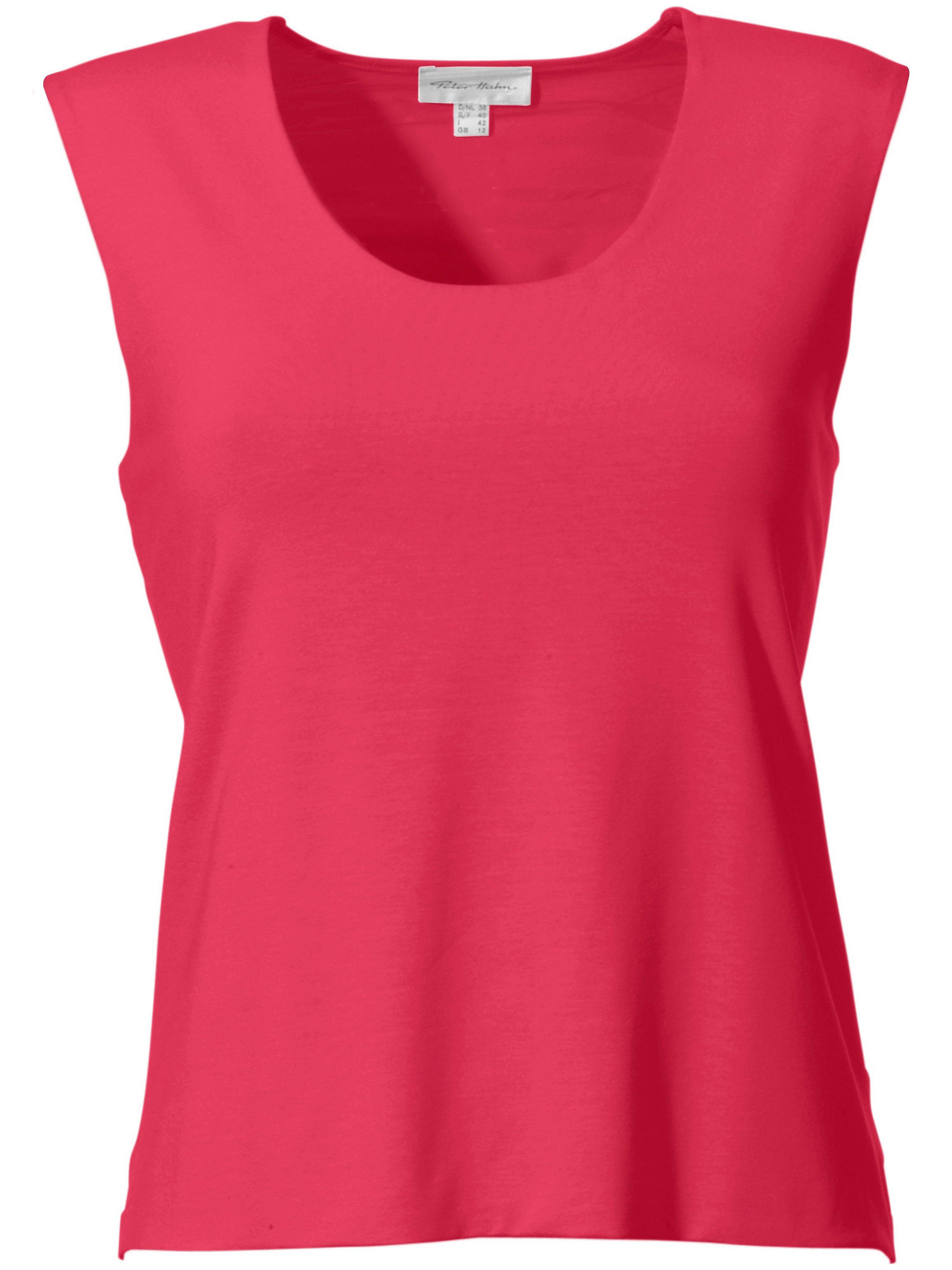 Round neck top short sleeves Peter Hahn bright pink