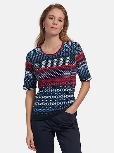 Betty Barclay - Shirt met rond hals en korte mouwen