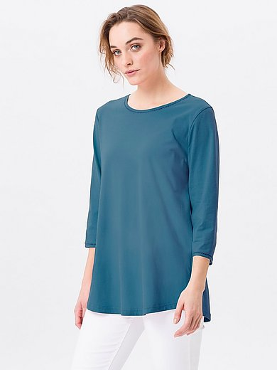 Green Cotton - Top in 100% cotton with 3/4-length sleeves