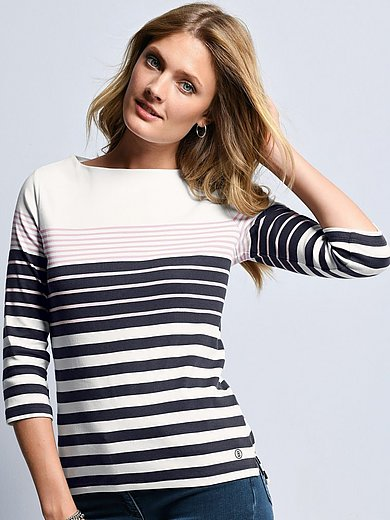 Bogner - Top with 3/4-length sleeves and boat neck