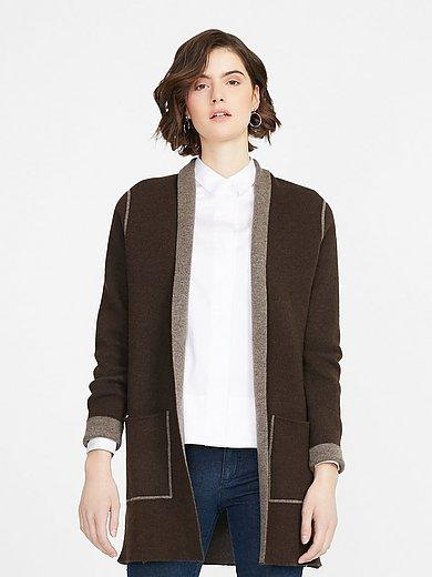 Peter Hahn - Long knitted cardigan in 100% yak wool