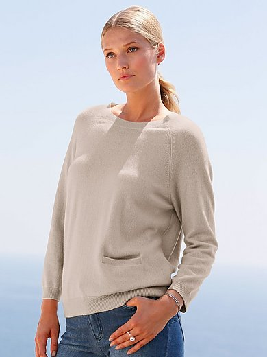 include - Crew neck jumper in Pure cashmere in premium quali