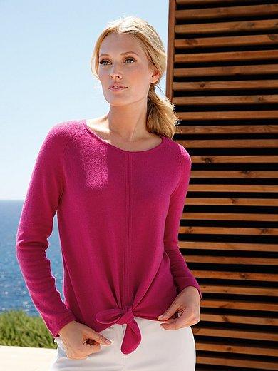 include - Rundhals-Pullover aus 100% Premium - Kaschmir