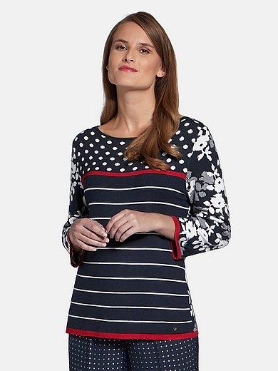 Basler - Rundhalsad tröja med 3/4-ärm