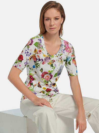 Efixelle - Round neck top with short sleeves