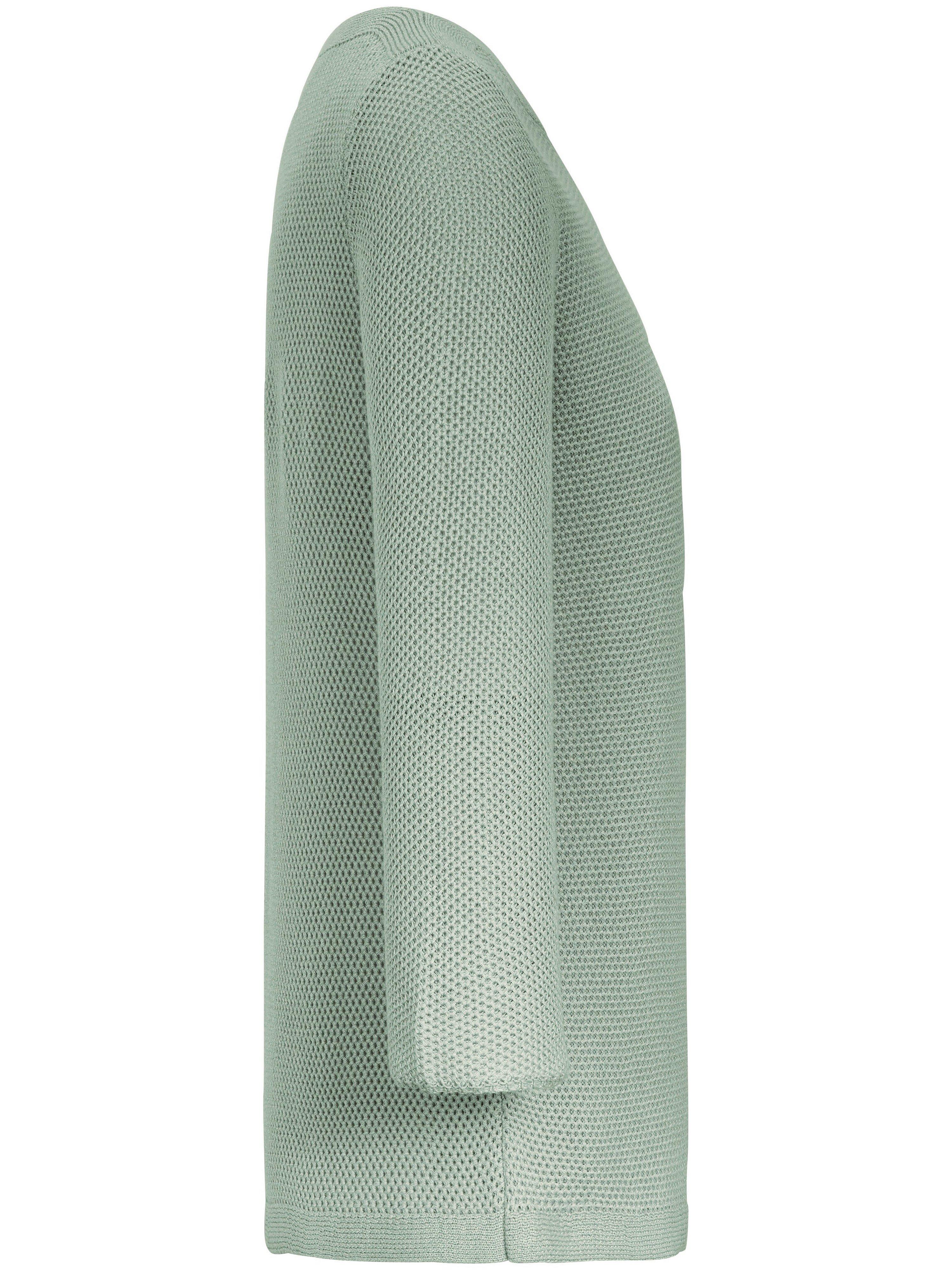 Strikbluse i 100% bomuld Fra Peter Hahn grøn