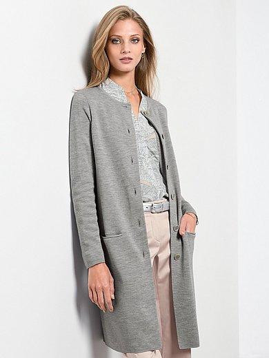 Fadenmeister Berlin Stickad kappa med lång ärm silvergrå