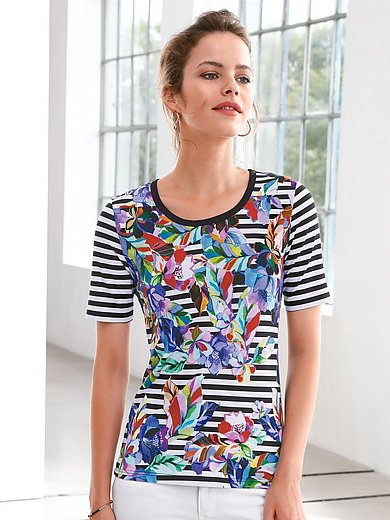 Looxent - Round neck top wirth short sleeves