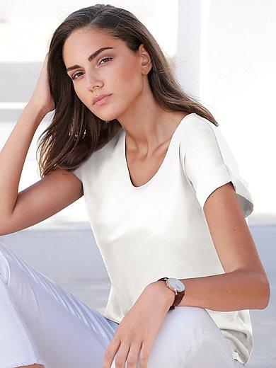 MYBC - V-Shirt mit überschnittener Schulter