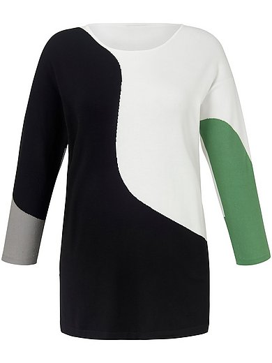Persona by Marina Rinaldi - Rundhals-Pullover mit Colour-Blocking
