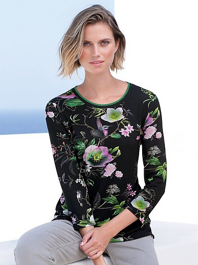 Betty Barclay - Round neck top with floral design