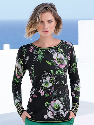Betty Barclay - Round neck jumper with floral design