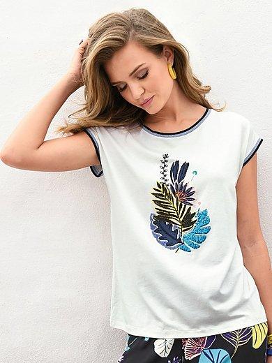 Laurèl - Rundhals-Shirt mit überschnittener Schulter