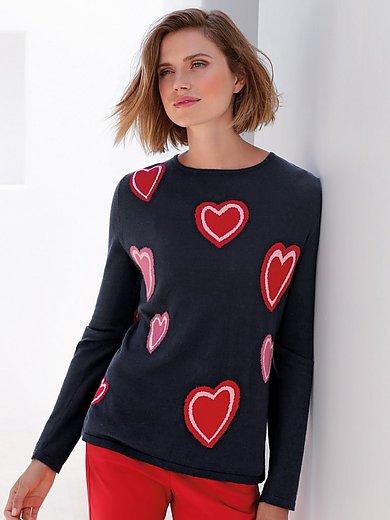 Gerry Weber - Round neck jumper with heart design