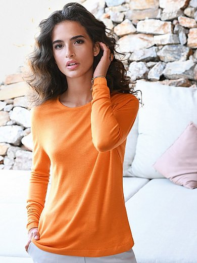 Richard Grand - Round neck jumper in cashmere and silk