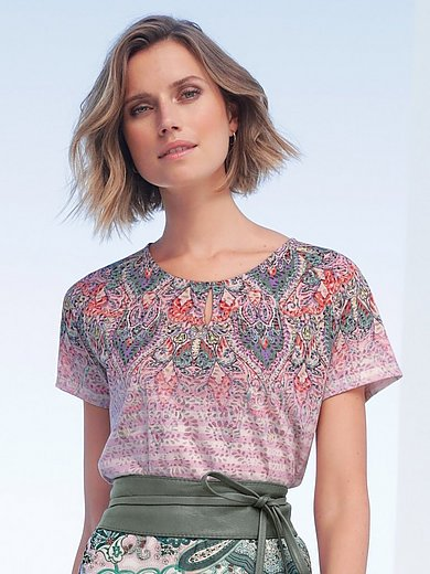 Gerry Weber - Round neck top with ornamental print