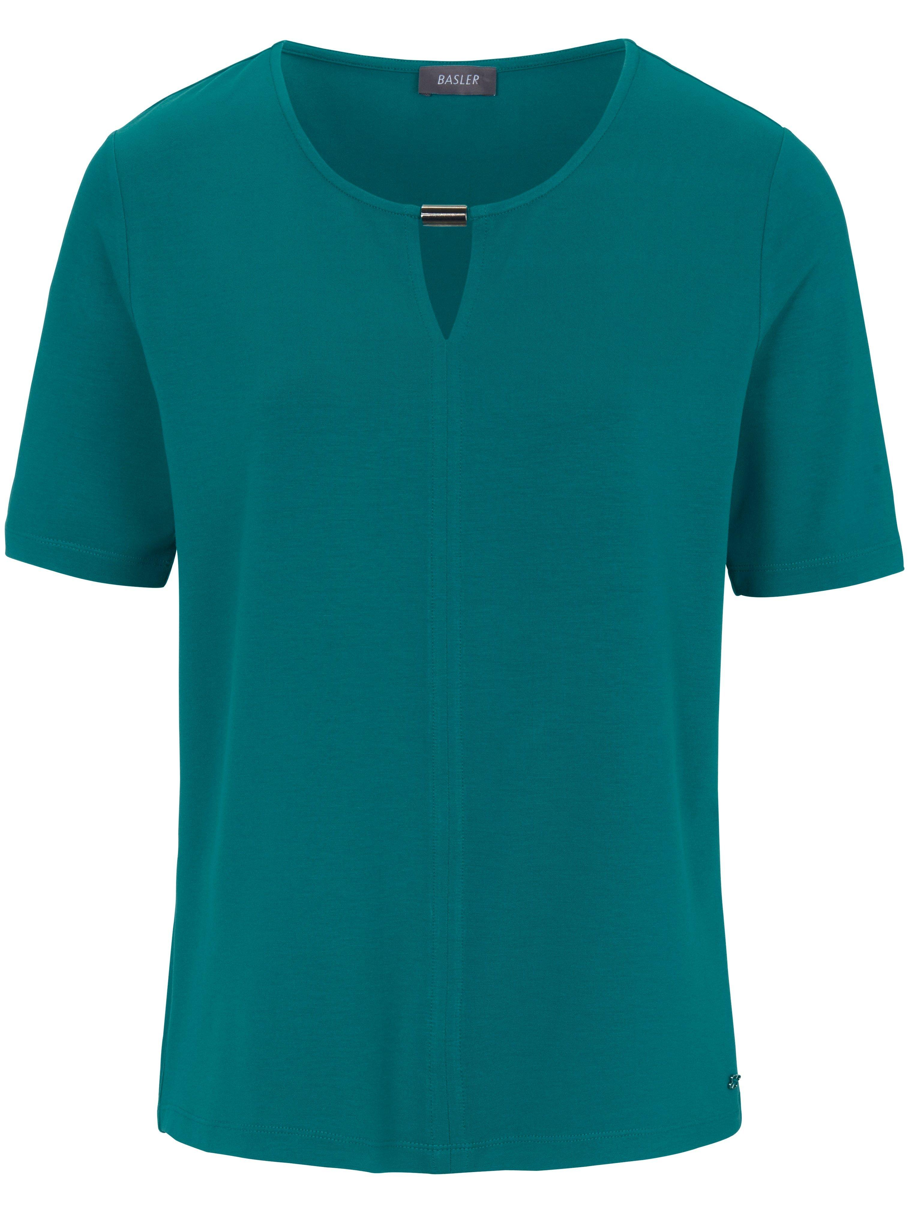 Damen Rundhals-Shirt Basler türkis | Plus Size |