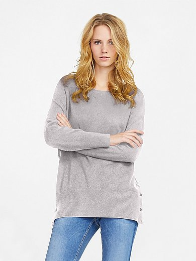 Peter Hahn Cashmere - Round neck jumper in Pure cashmere in premium qual