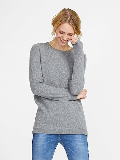 Peter Hahn Cashmere - Round neck jumper in Pure cashmere in premium qual