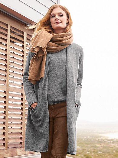 include - Long-Strickjacke aus 100% Kaschmir