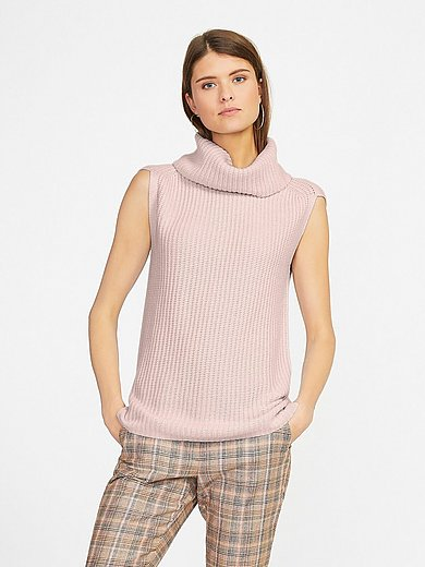 Fadenmeister Berlin - Sleeveless roll-neck jumper in Pure cashmere in pr