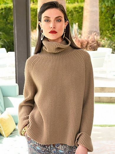 Laura Biagiotti Donna - Roll-neck jumper in 100% cashmere
