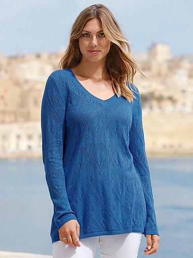 Anna Aura - Ajour-Pullover mit V-Ausschnitt