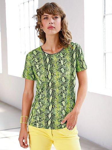 Looxent - Bluse med rund hals og slangeskindsprint