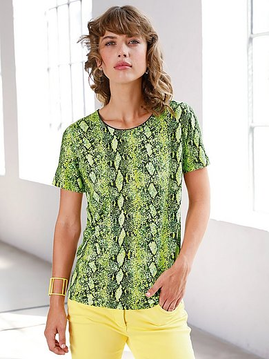 Looxent - Jersey round neck top with snake print