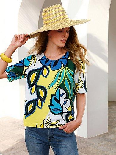 ZAIDA - Shirt met ronde hals en korte mouwen