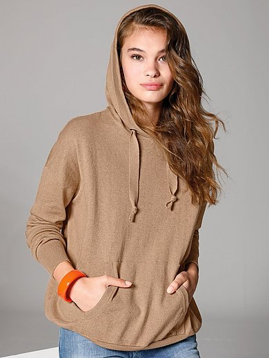 Marc Aurel - Knitted hoody with drop shoulder