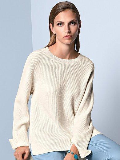(THE MERCER) N.Y. - Rundhalsad tröja med lång ärm i 100% kashmir
