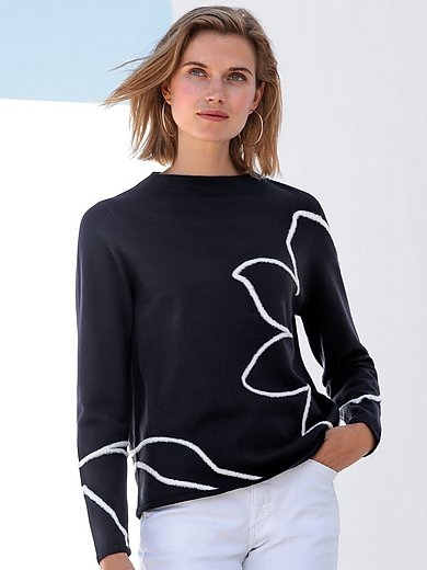 Gerry Weber - Jumper with long sleeves and floral motif