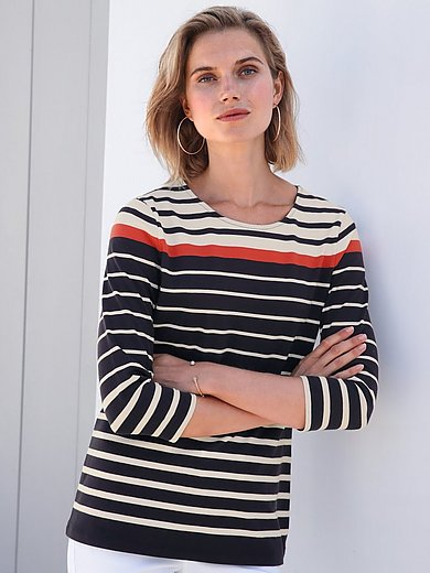 Gerry Weber - Jersey round neck top with 3/4-length sleeves