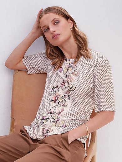 Gerry Weber - Round neck blouse with short sleeves
