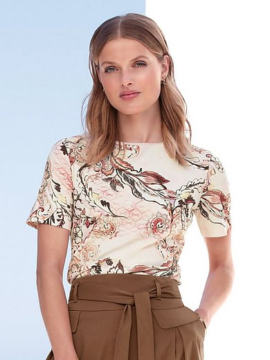 Gerry Weber - Round neck top with leaf and floral print