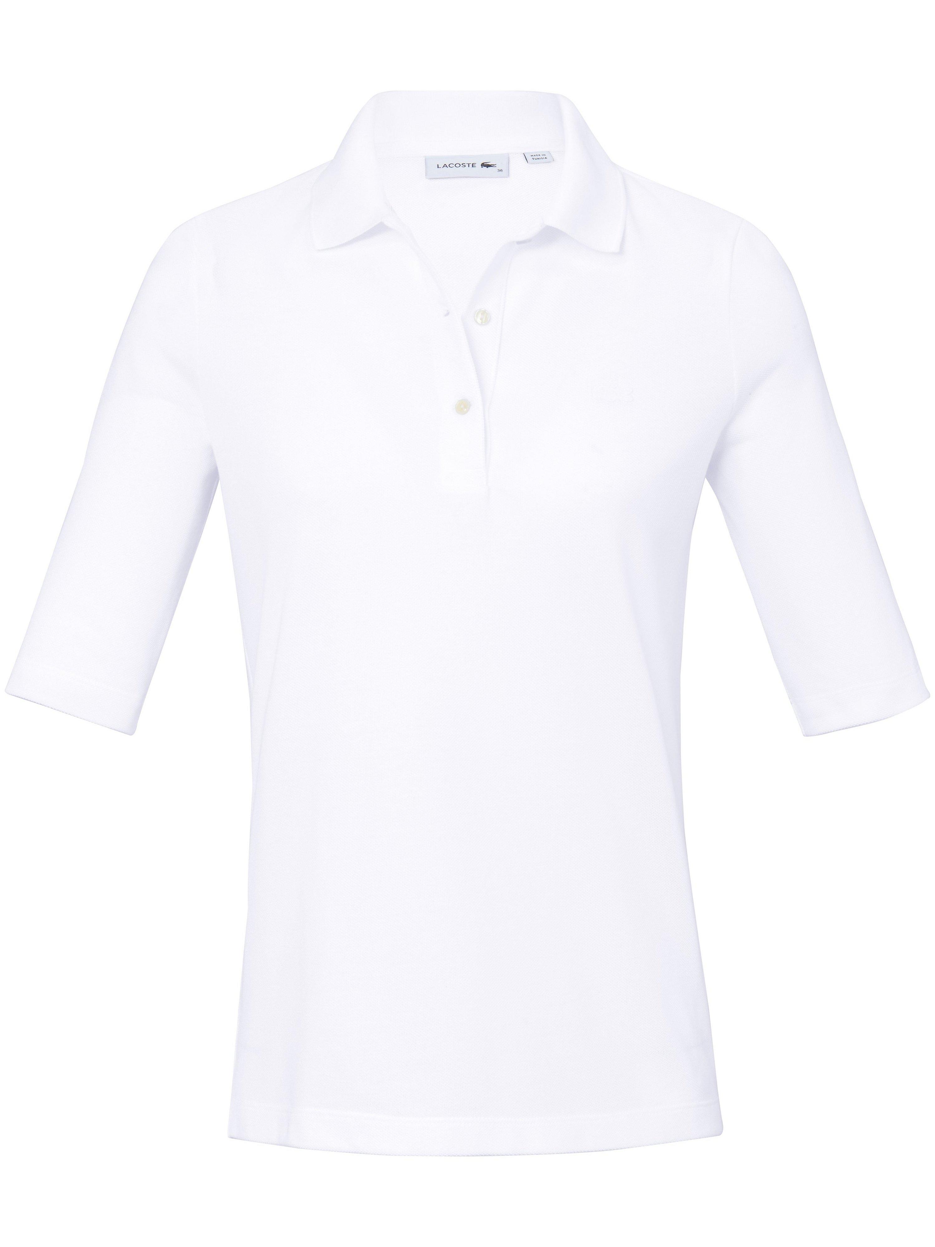 Poloshirt 1/2-lange ærmer 100% bomuld Fra Lacoste hvid