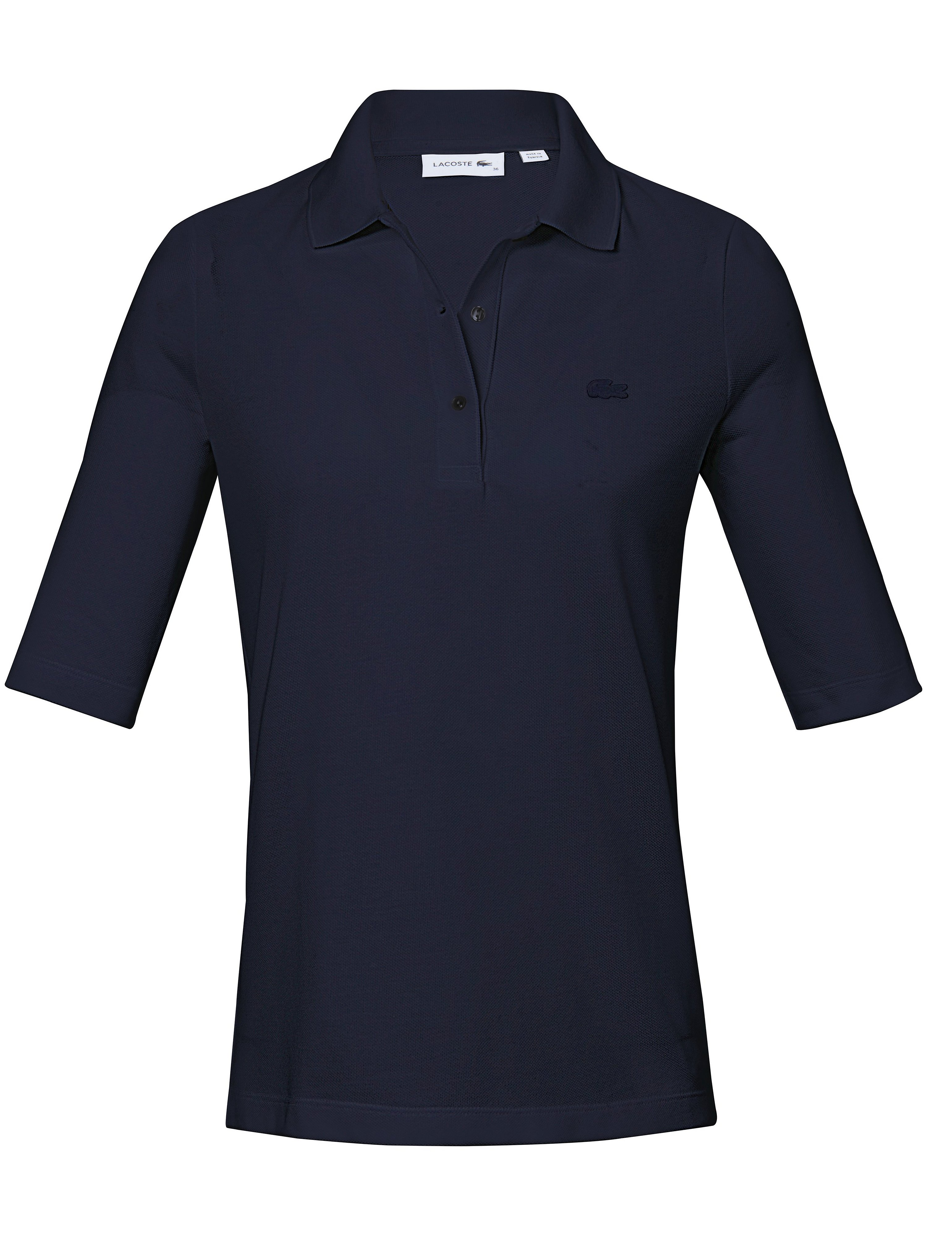 Poloshirt 1/2-lange ærmer 100% bomuld Fra Lacoste blå