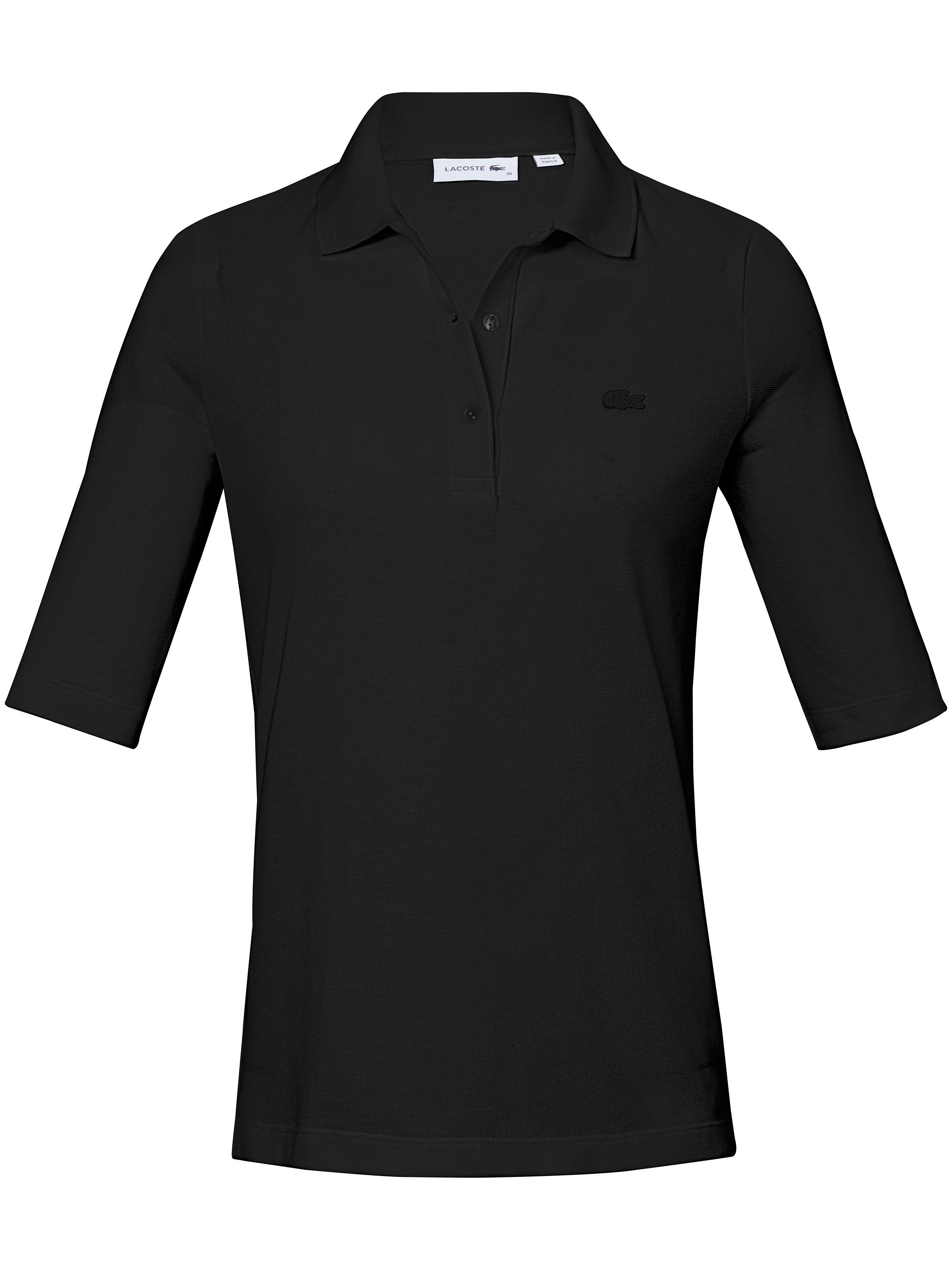 Poloshirt 1/2-lange ærmer 100% bomuld Fra Lacoste sort